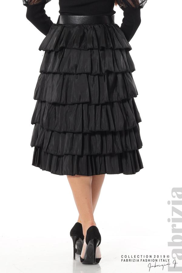 Дамска пола с волани черен 4 fabrizia