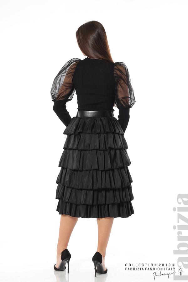 Дамска пола с волани черен 5 fabrizia