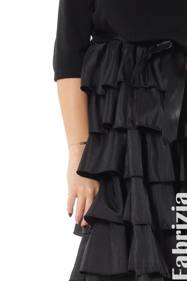 Дамска рокля с волани черен 3 fabrizia