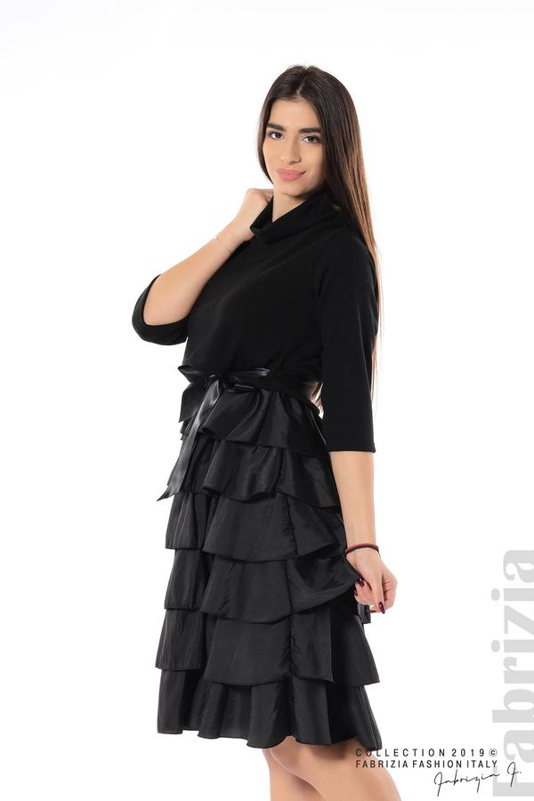 Дамска рокля с волани черен 1 fabriziaДамска рокля с волани черен 4 fabrizia