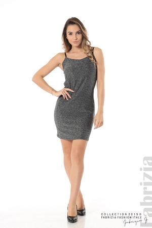 Къса рокля с брокатен ефект