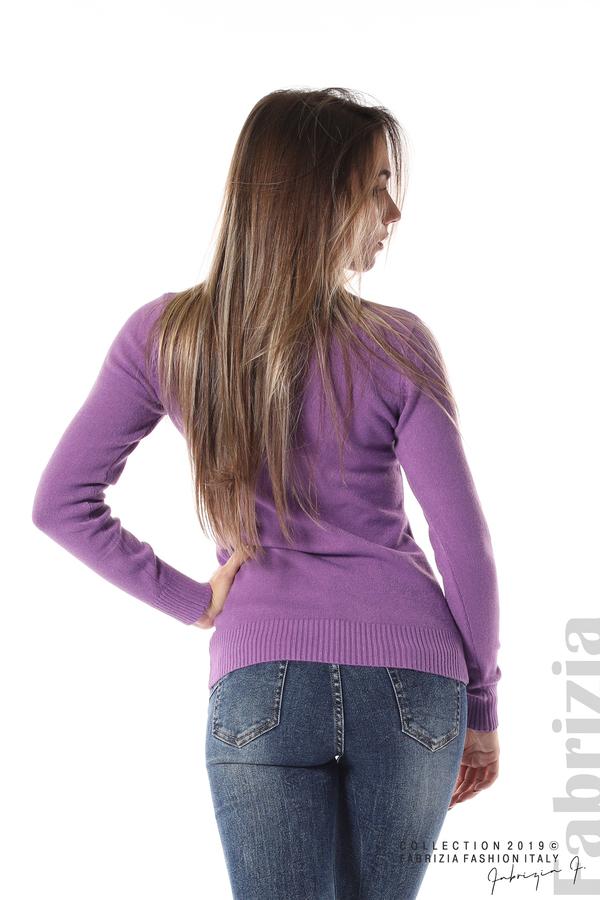Блуза с висока поло яка лилав 5 fabrizia