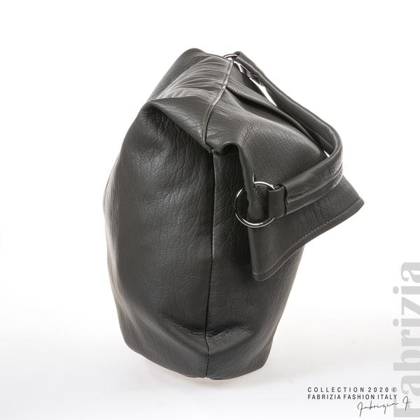 Дамска чанта с прехвърлена горна част сив 3 fabrizia