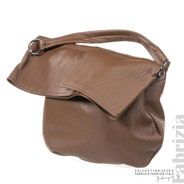 Дамска чанта с прехвърлена горна част кафяв 1 fabrizia