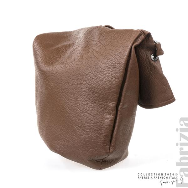 Дамска чанта с прехвърлена горна част кафяв 3 fabrizia