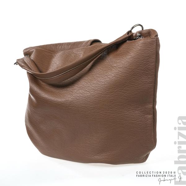 Дамска чанта с прехвърлена горна част кафяв 2 fabrizia