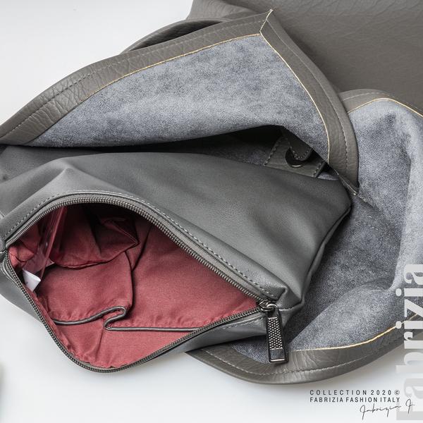Дамска чанта с прехвърлена горна част сив 6 fabrizia