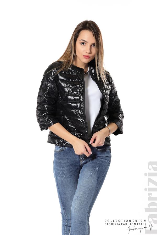 Дамско яке с три четвърти ръкави черен 2 fabrizia