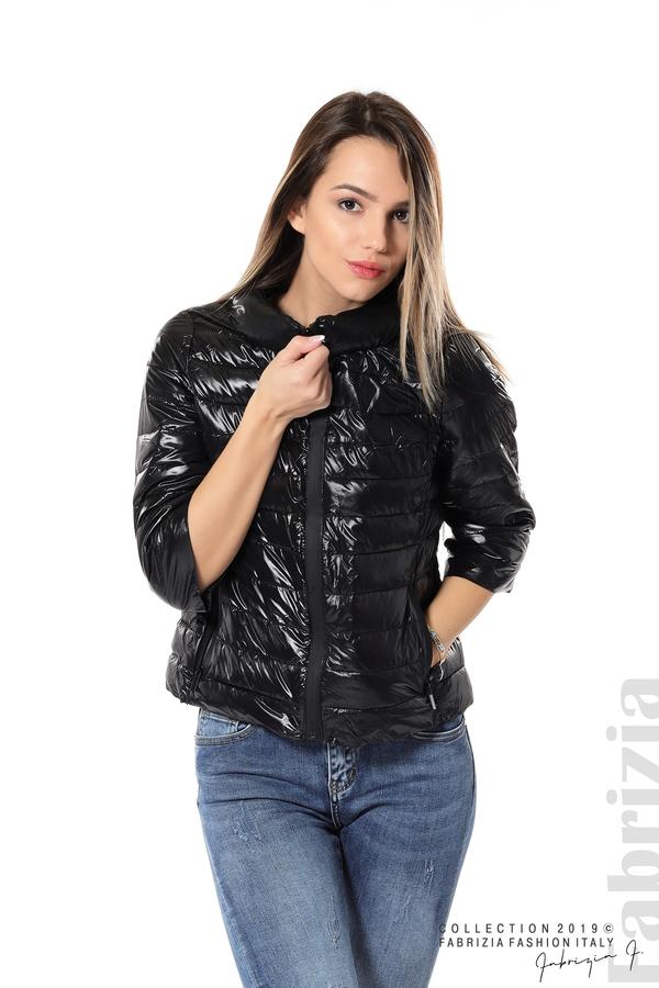 Дамско яке с три четвърти ръкави черен 1 fabrizia