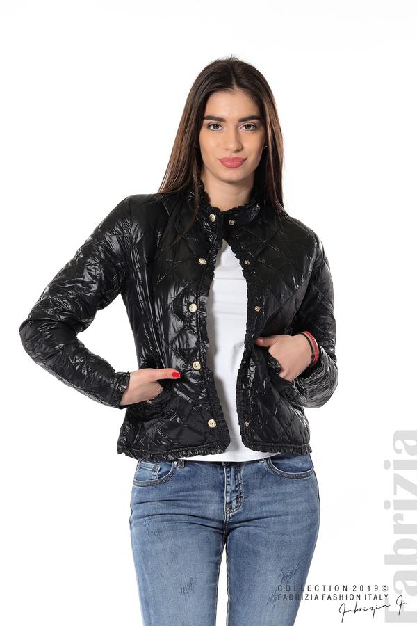 Вталено дамско яке черен 1 fabrizia