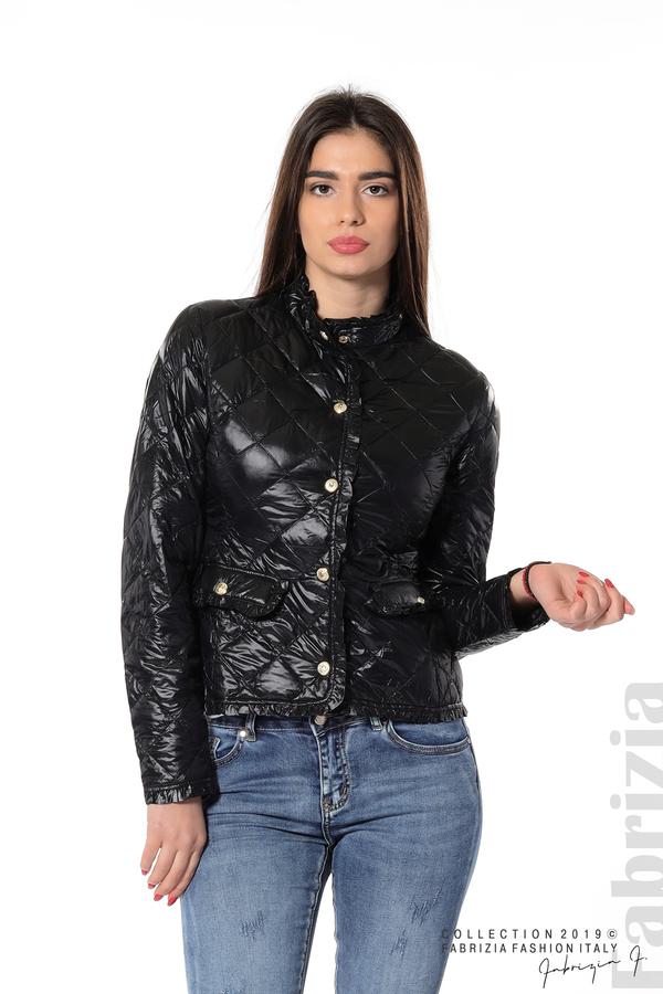 Вталено дамско яке черен 2 fabrizia