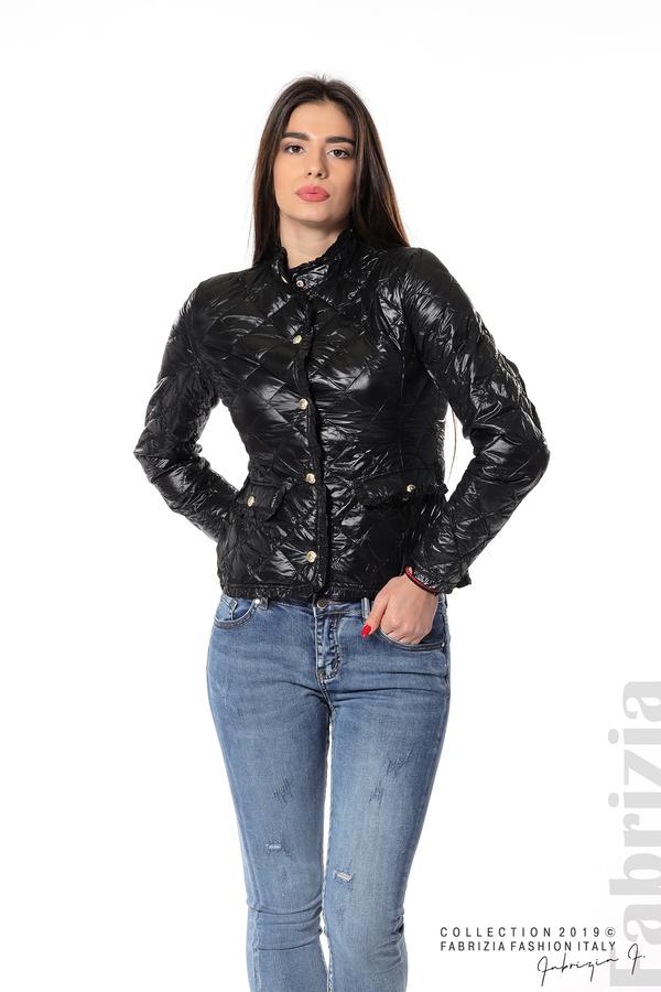Вталено дамско яке черен 5 fabrizia