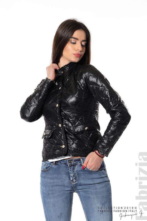 Вталено дамско яке  черен 4 fabrizia