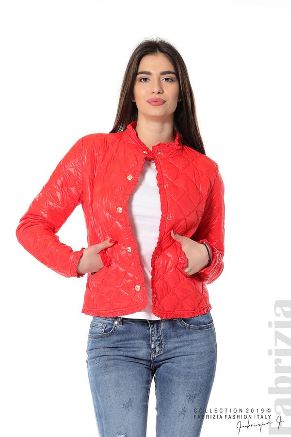 Вталено дамско яке червен 1 fabrizia