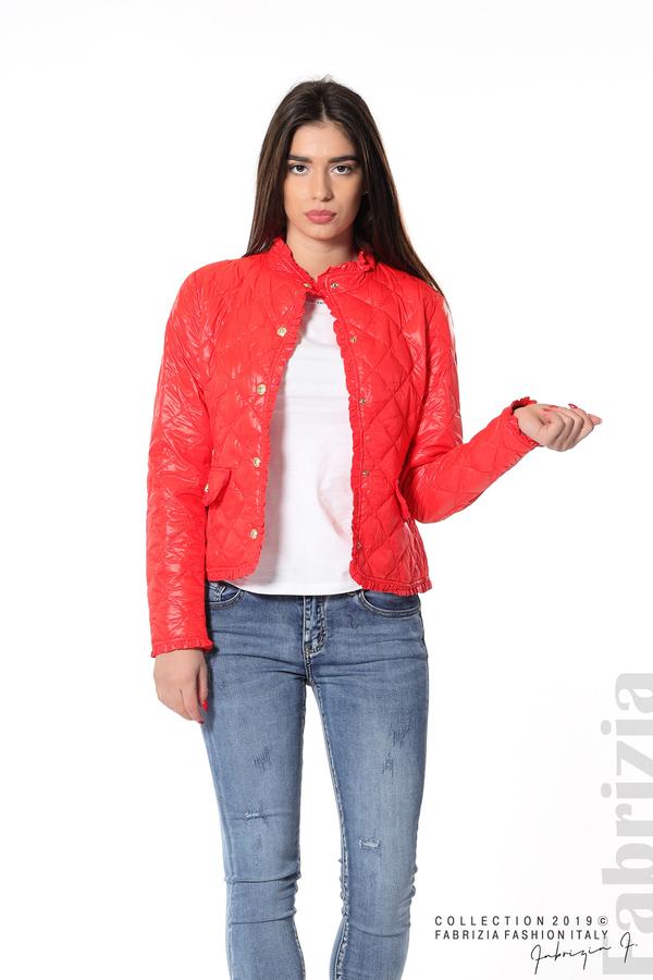 Вталено дамско яке  червен 5 fabrizia