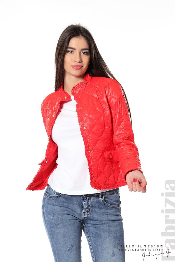 Вталено дамско яке червен 4 fabrizia