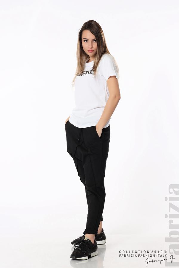 Дамски панталон с паднало дъно черен 2 fabrizia