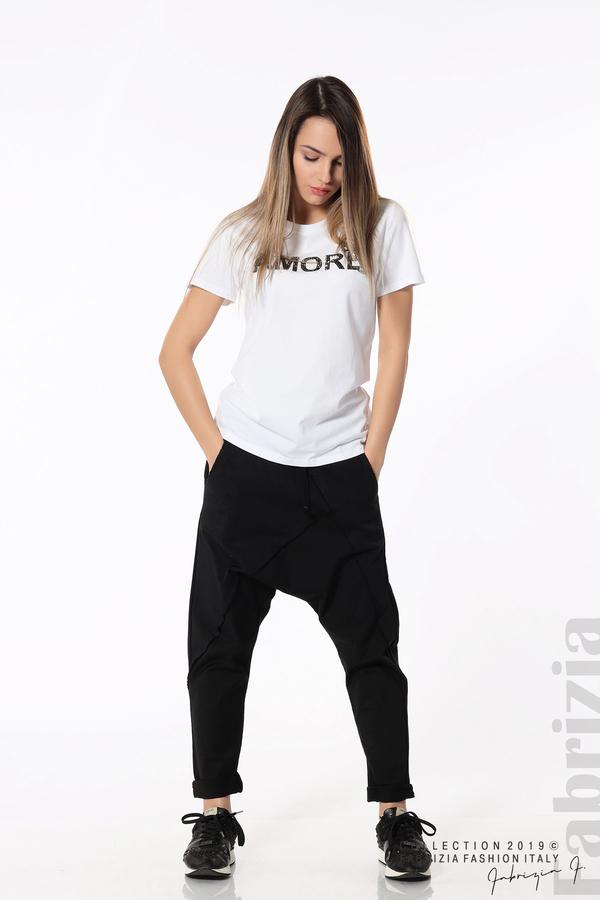 Дамски панталон с паднало дъно черен 1 fabrizia