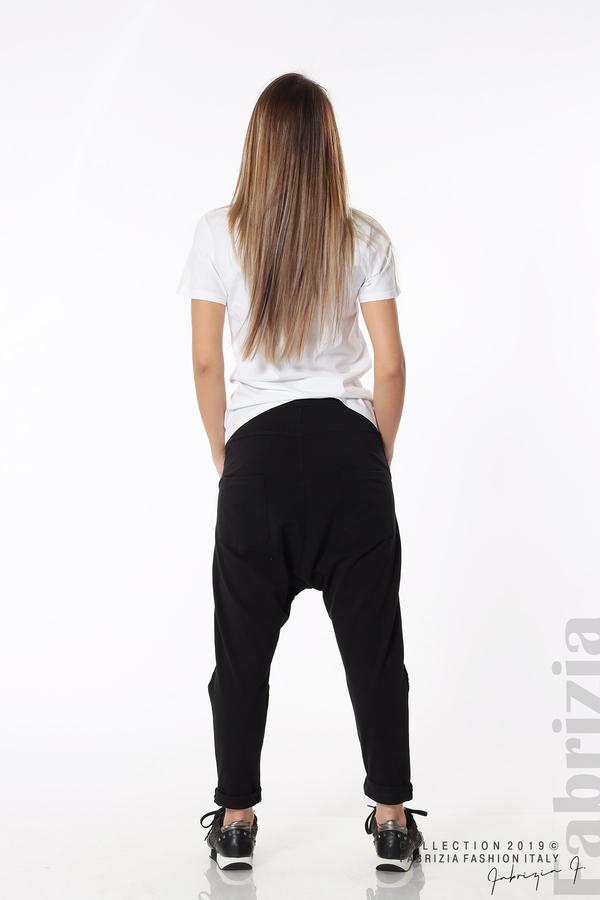 Дамски панталон с паднало дъно черен 7 fabrizia