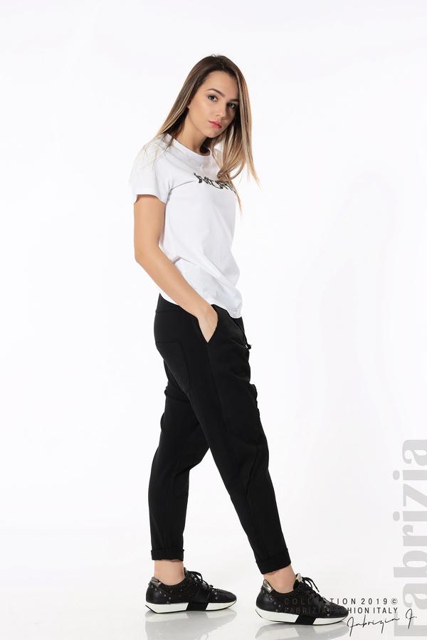 Дамски панталон с паднало дъно черен 5 fabrizia