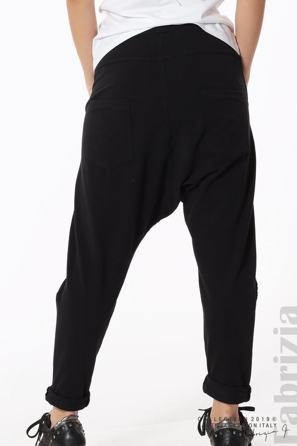 Дамски панталон с паднало дъно черен 8 fabrizia
