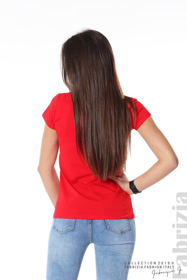 Блуза с надпис Love what you do червен 5 fabrizia