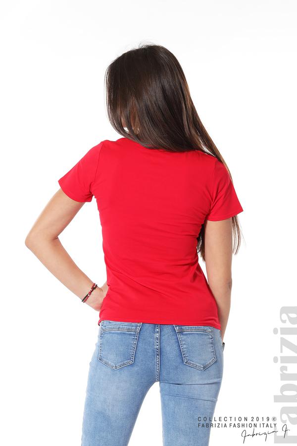 Блуза с мече от пайети червен 6 fabrizia