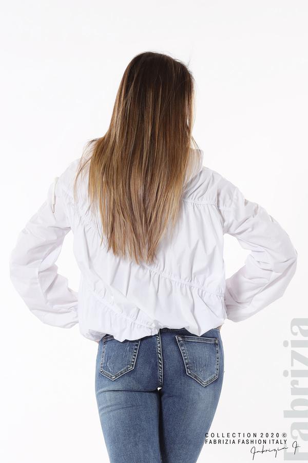 Ефектна дамска блуза с качулка бял 6 fabrizia
