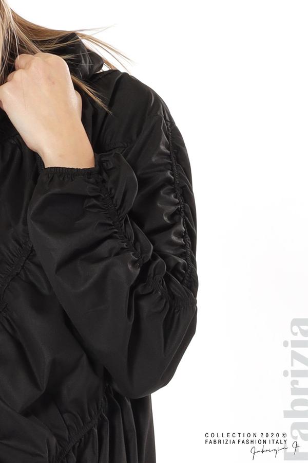Ефектна дамска блуза с качулка черен 4 fabrizia