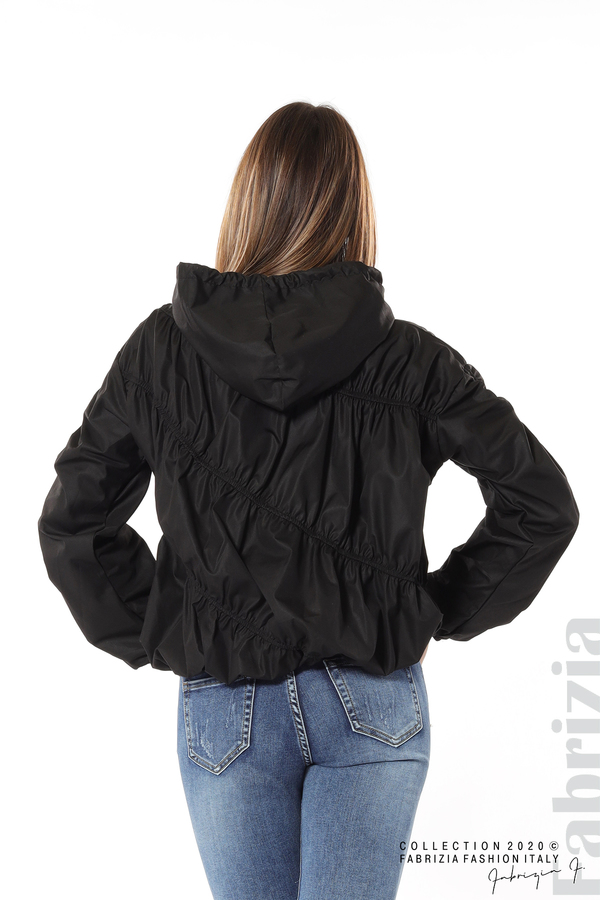 Ефектна дамска блуза с качулка черен 6 fabrizia