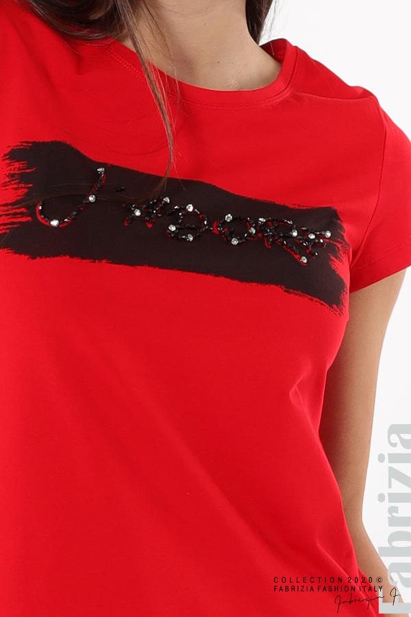 Дамска блуза с надпис J'adore червен 3 fabrizia