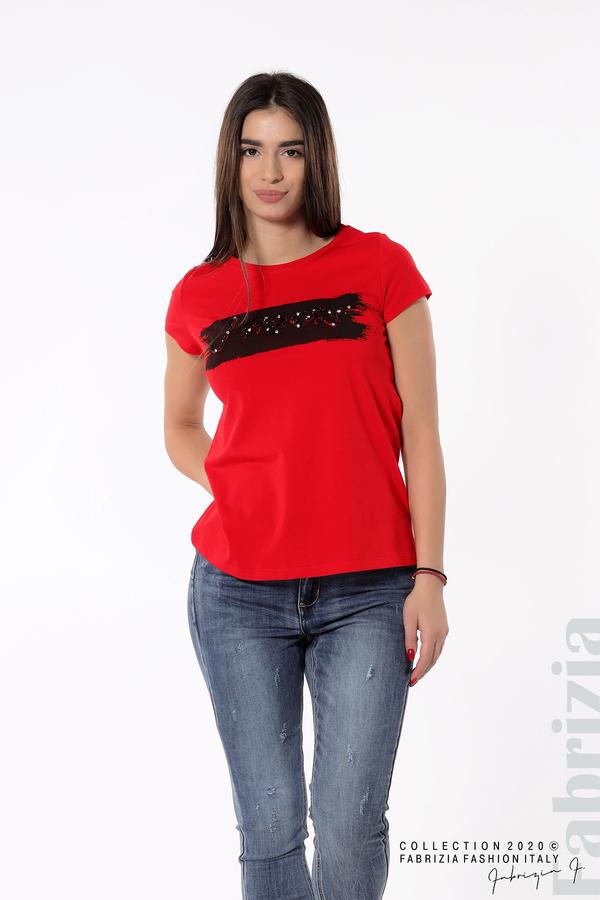 Дамска блуза с надпис J'adore червен 2 fabrizia