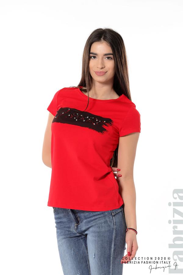 Дамска блуза с надпис J'adore червен 1 fabrizia