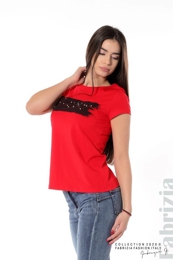Дамска блуза с надпис J'adore червен 4 fabrizia