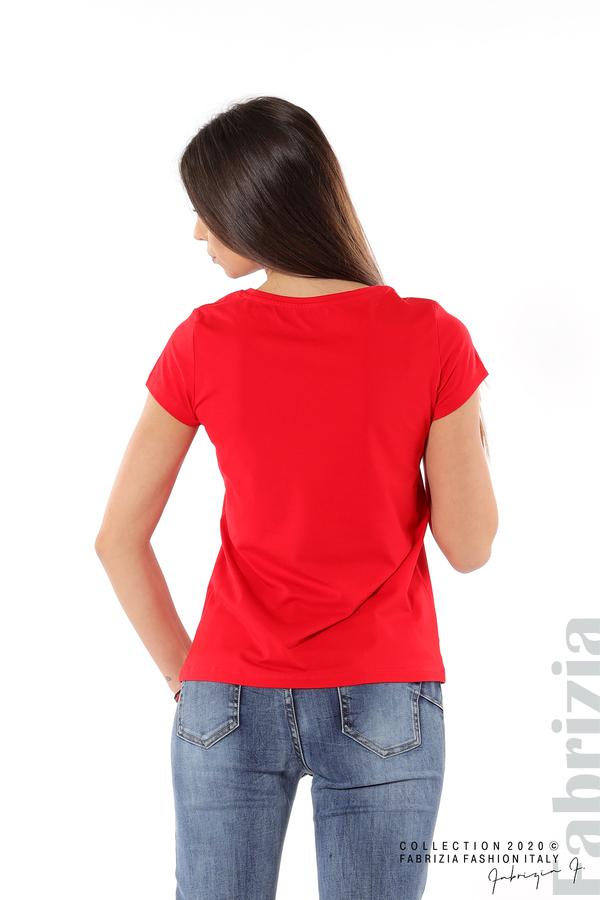 Дамска блуза с надпис J'adore червен 5 fabrizia