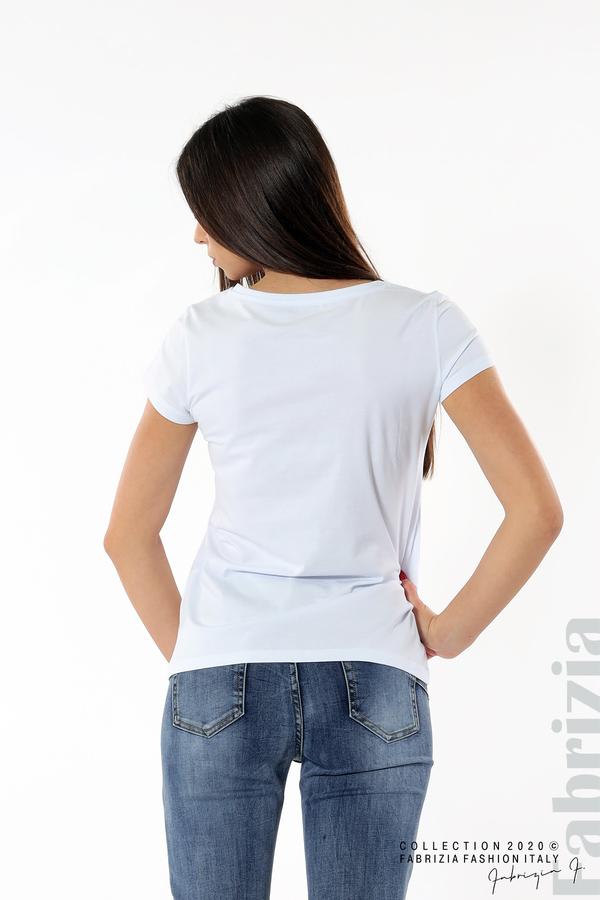 Дамска блуза с надпис J'adore бял/червен 4 fabrizia