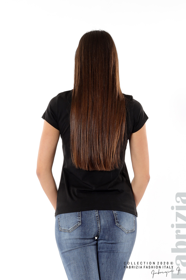Дамска блуза с надпис J'adore черен 5 fabrizia