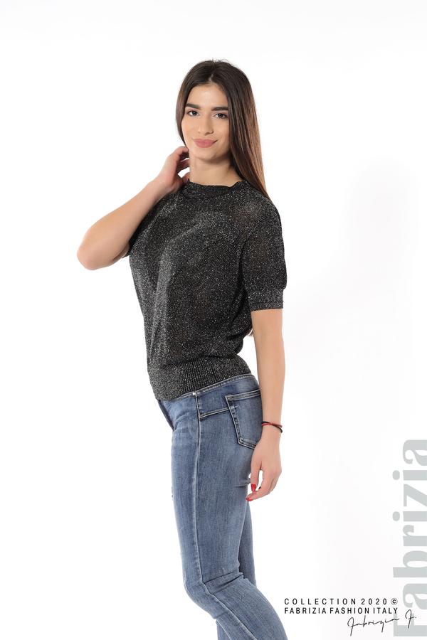 Дамска мрежеста блуза с буква V черен 2 fabrizia