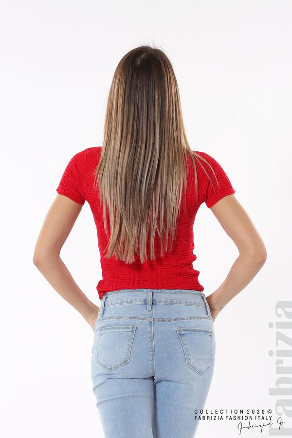 Дамска блуза с ефектна предна част червен 5 fabrizia