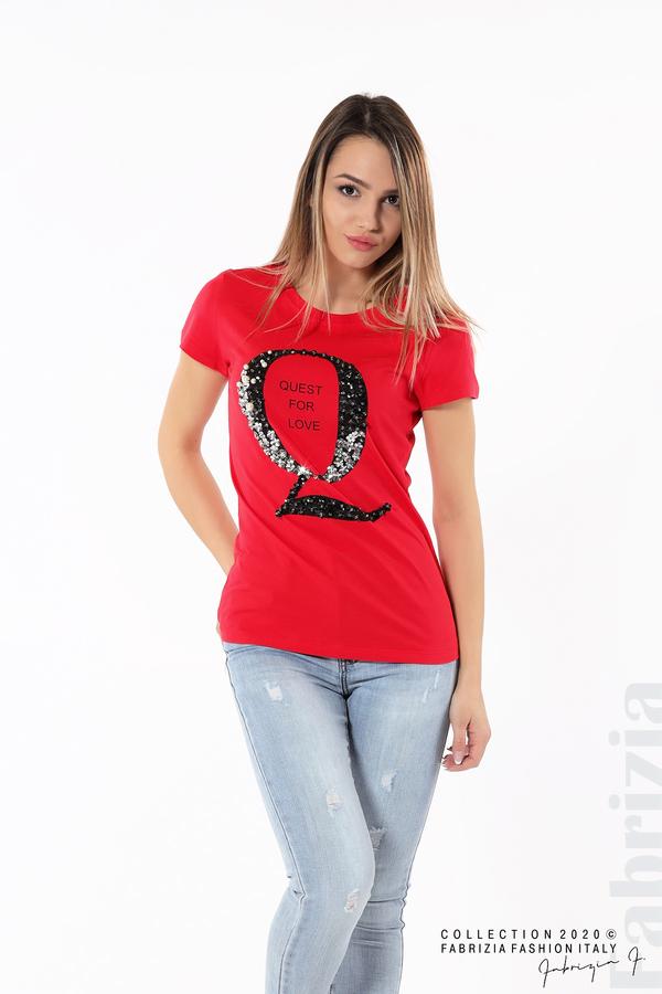 Блуза Quest for Love и декорация червен 2 fabrizia