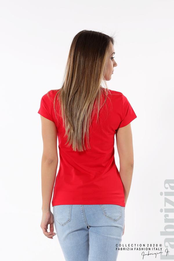 Блуза с надпис Girl червен 5 fabrizia