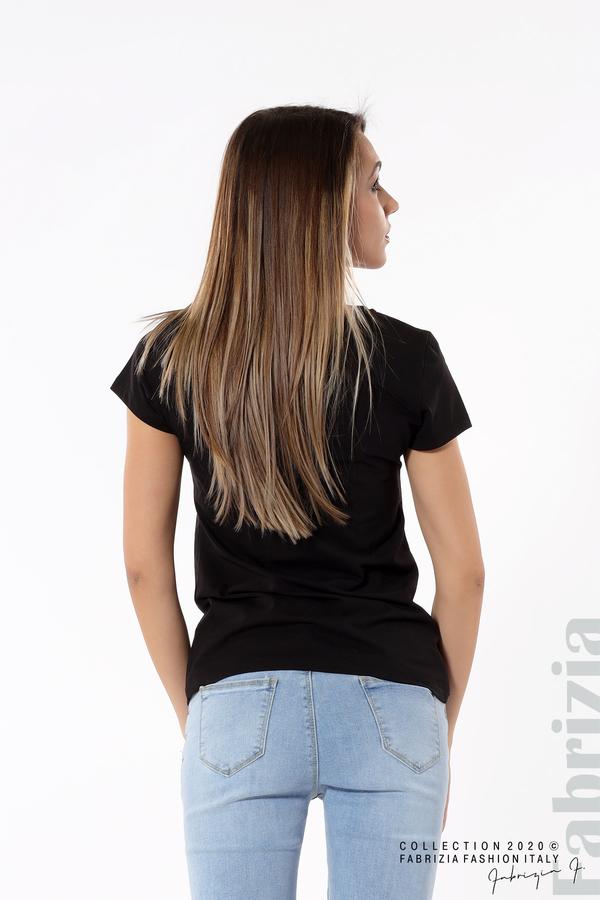 Блуза с надпис Girl черен 5 fabrizia