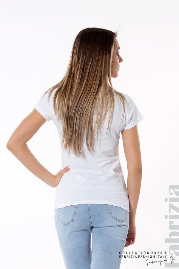Блуза с надпис Girl бял 5 fabrizia