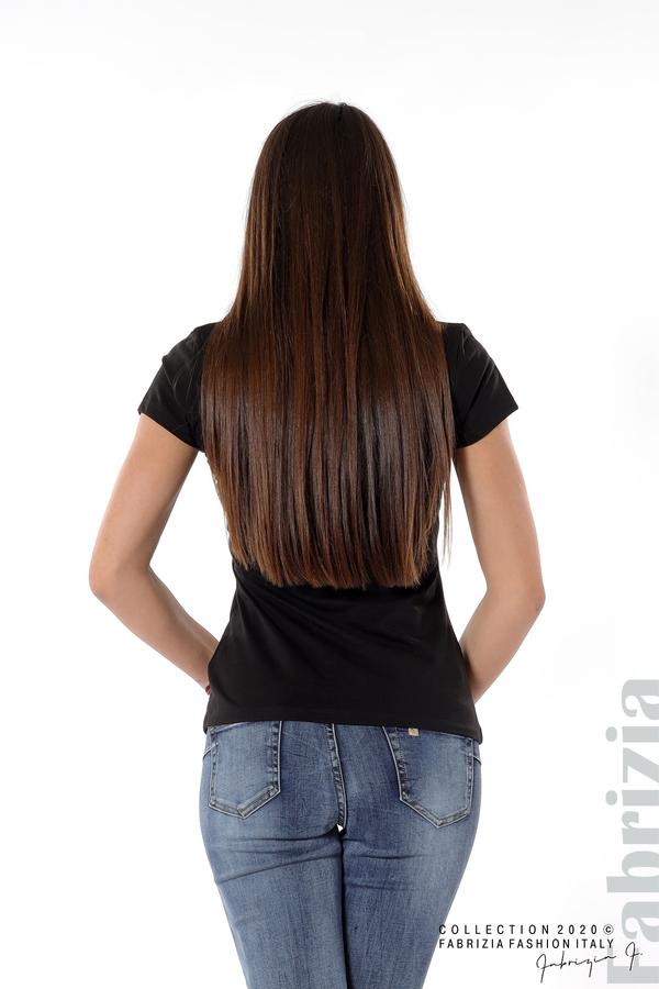 Дамска блуза с надпис Fashion черен 4 fabrizia