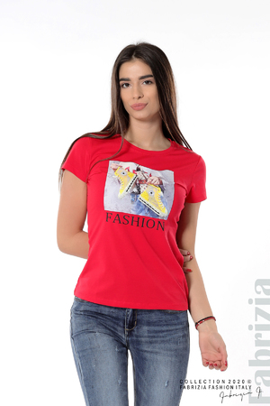 Дамска блуза с надпис Fashion