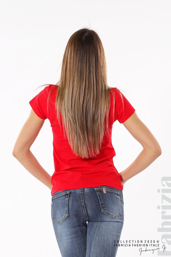 Дамска блуза с надпис One червен 6 fabrizia