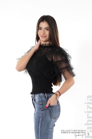 Дамска блуза с дантела и тюл
