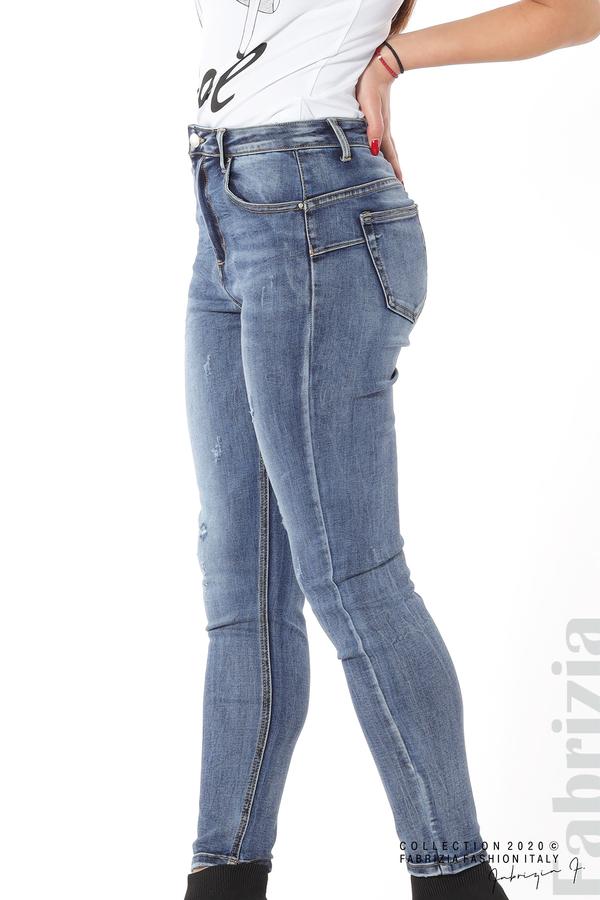 Дамски дънки с леко захабен ефект 4 fabrizia