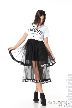 Дамска рокля с волани от тюл