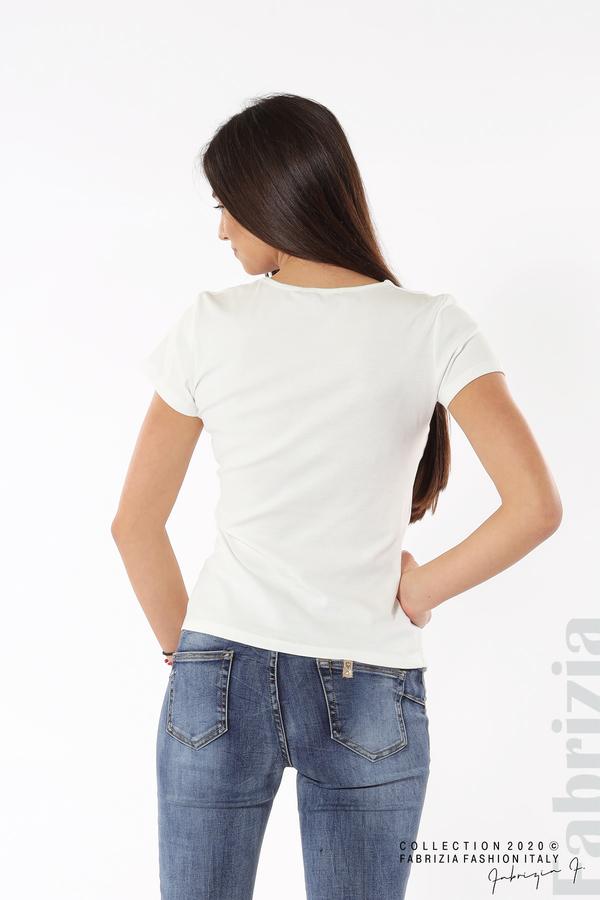 Асиметрична блуза с копчета бял 5 fabrizia